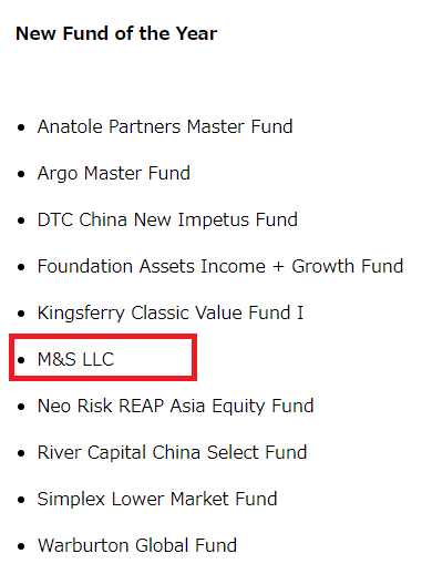 New Fund of the Year